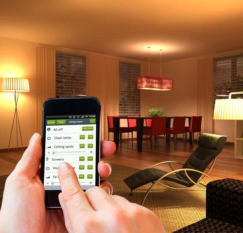 control de iluminación áreas inteligentes